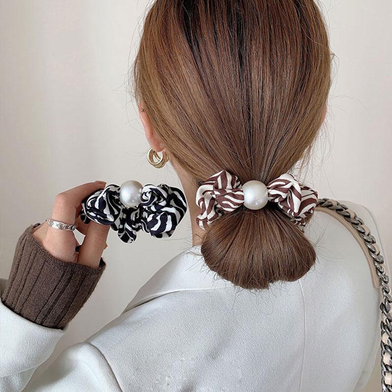Hair ornament hair ornament hair rope woman's net red spot horse pattern hair ring large bowel ring Korean style hair ornament t