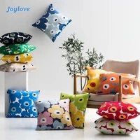 joylove poppy sun flower pillowcase and pillow with stuffing square ins bedside sofa backrest cushion
