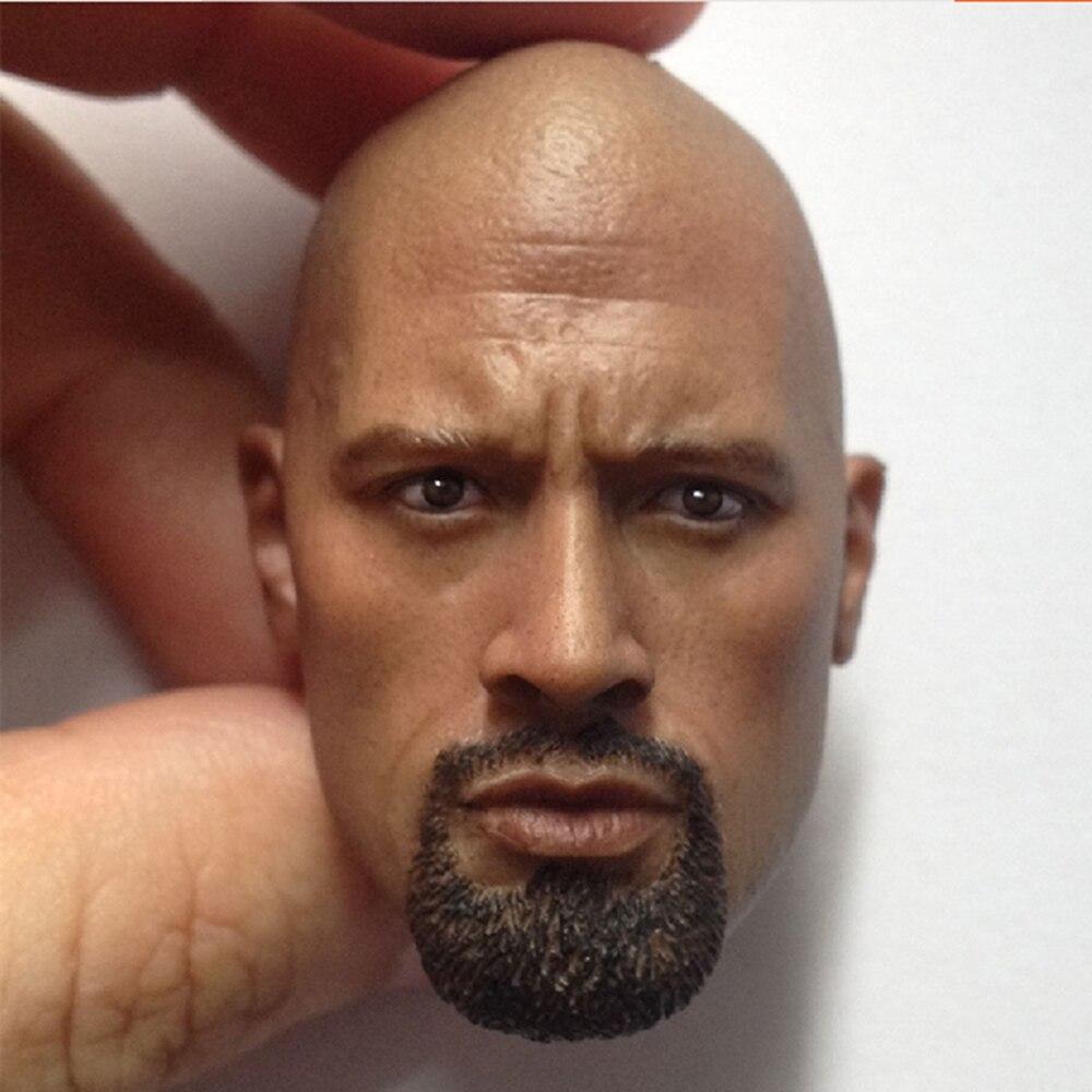 """Escala 1/6 personalizada Dwayne head esculpir para 12 """"juguetes calientes figura de acción Muscular muñeca juguetes soldado modelo"""