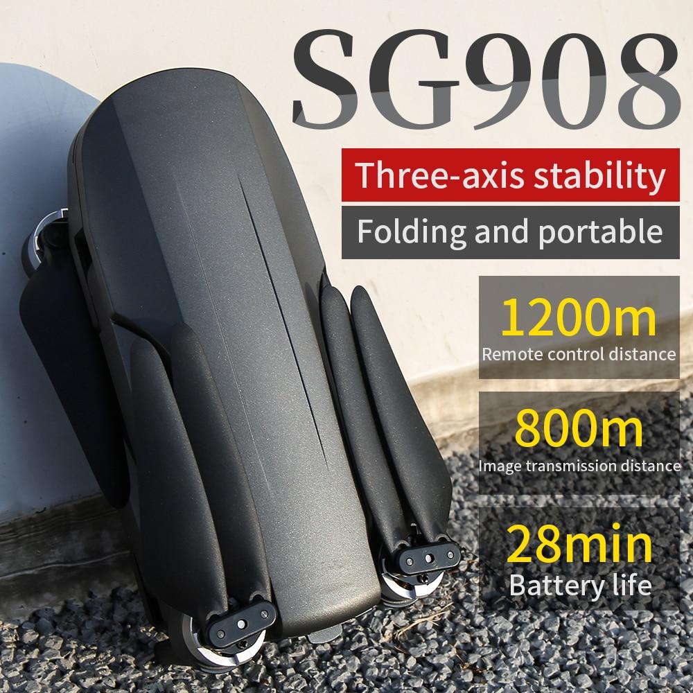 SG908 rc gps drone de 3 ejes cardán 4K Cámara GPS 5G...