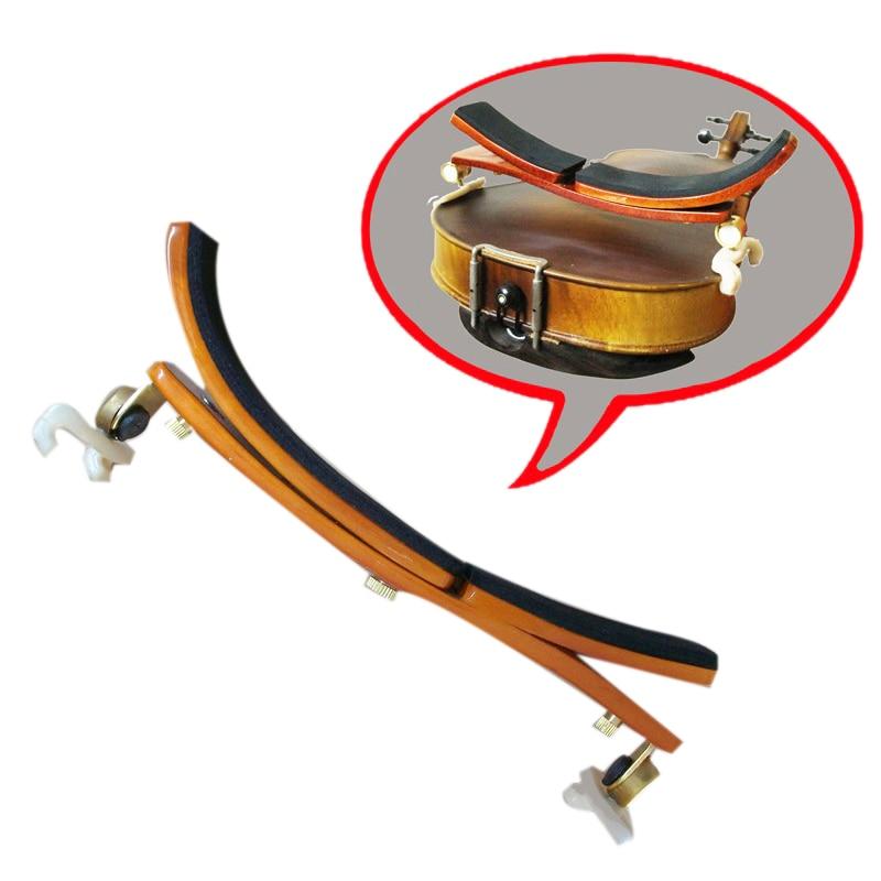 Violin Shoulder Pad Multi-Position Adjustable Maple Shoulder Pad German Style Violin Shoulder Pad for 3/4-4/4 Violin or 14 inc