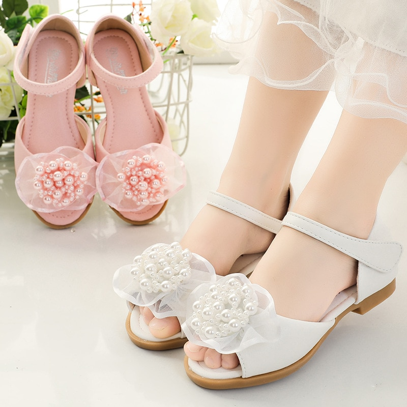 Летние сандалии для девочек, новинка, модные детские сандалии принцессы, детские сандалии на мягкой плоской подошве, милые сандалии для мал... сандалии saivvila saivvila mp002xw0e570