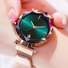 Frauen Uhr Starry Sky Magnet Uhr Frauen Luxus Kristall Damen Quarz Armbanduhr Uhr reloj mujer relogio feminino zegarek damski