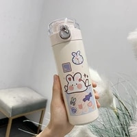 450ml cute bear stainless steel vacuum flask coffee tea milk travel mug gift cartoons water bottle insulated thermos cup