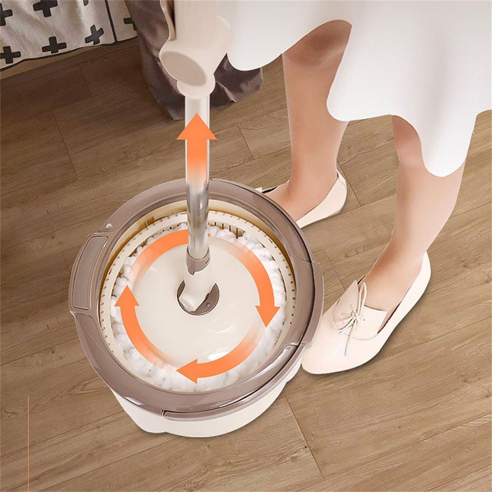 Magic Dual Drive Cleaning Mop Hand Pressing 360 Spin Mops Water Home Kitchen Wash Floor Cleaner Removable With Bucket Drop Mop enlarge