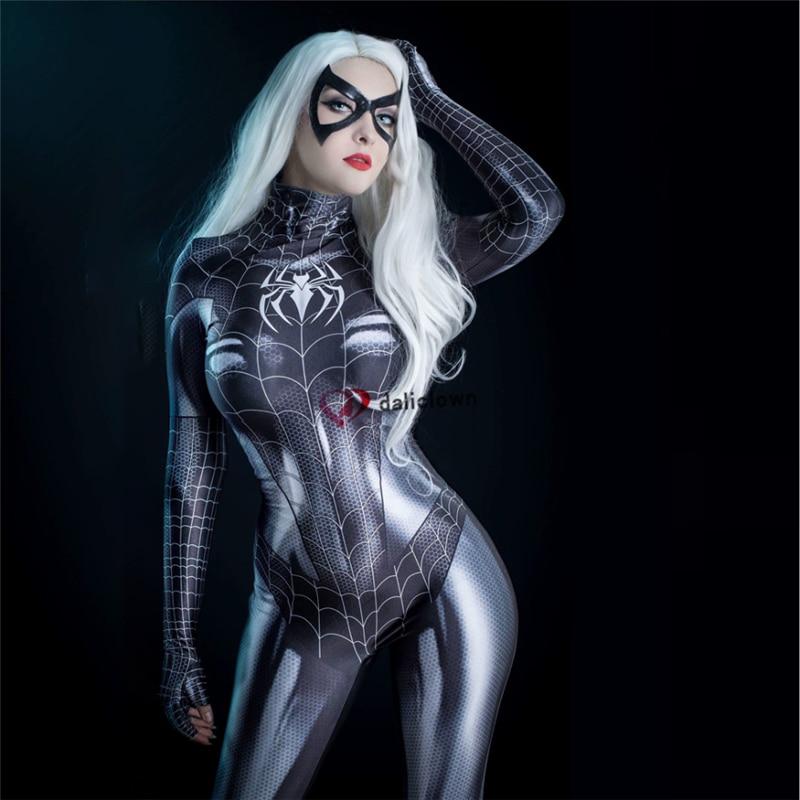 Sexy Female Black Spandex Jumpsuit Zentai Suit Women Supergirl Superhero Bodysuit Cosplay Costume Party Carnival Fancy Dress