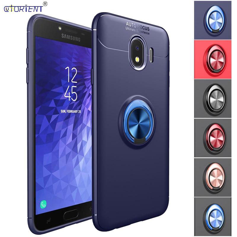 Funda para Samsung Galaxy J4 2018 J400, Funda de parachoques para Samsung J4 SM-J400F SM-J400F/DS, carcasa de teléfono con anillo de armadura híbrida magnética para coche