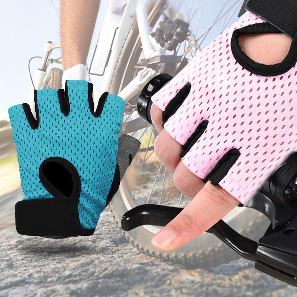 Перчатки с открытыми пальцами, нейлоновые перчатки, спортивные товары, тренажерный зал, велосипедные перчатки, легкий, анти-занос, удар, пог...