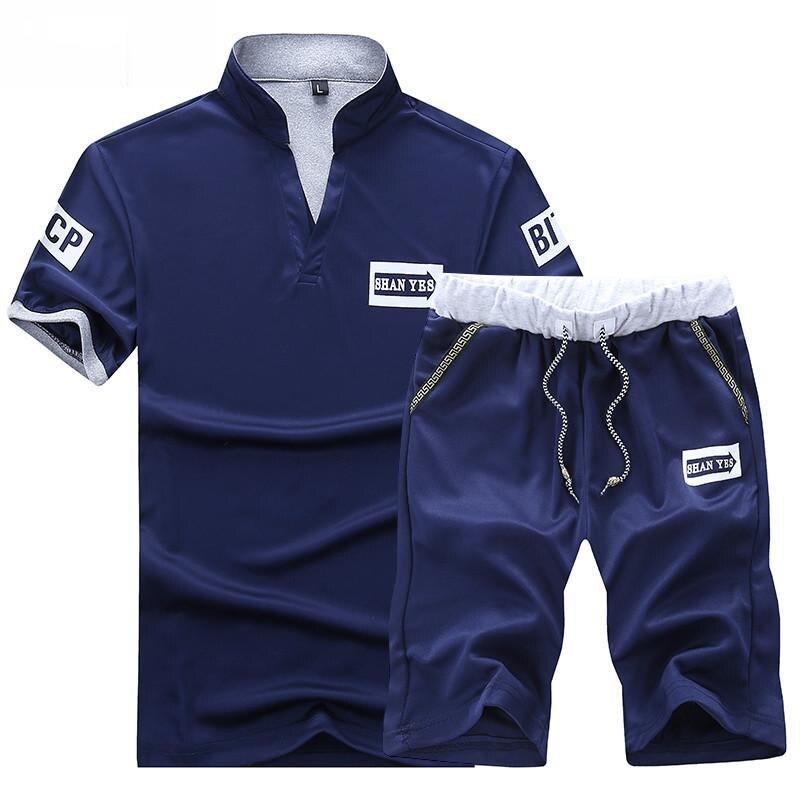 Conjunto de dos piezas para hombre, camiseta de manga corta, pantalones cortos,...