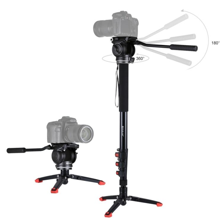 السائل رئيس ترايبود الثقيلة حامل للكاميرا تمديد قضيب للتمديد الفولاذ المقاوم للصدأ قطب تليسكوبي عمل كاميرا Monopod