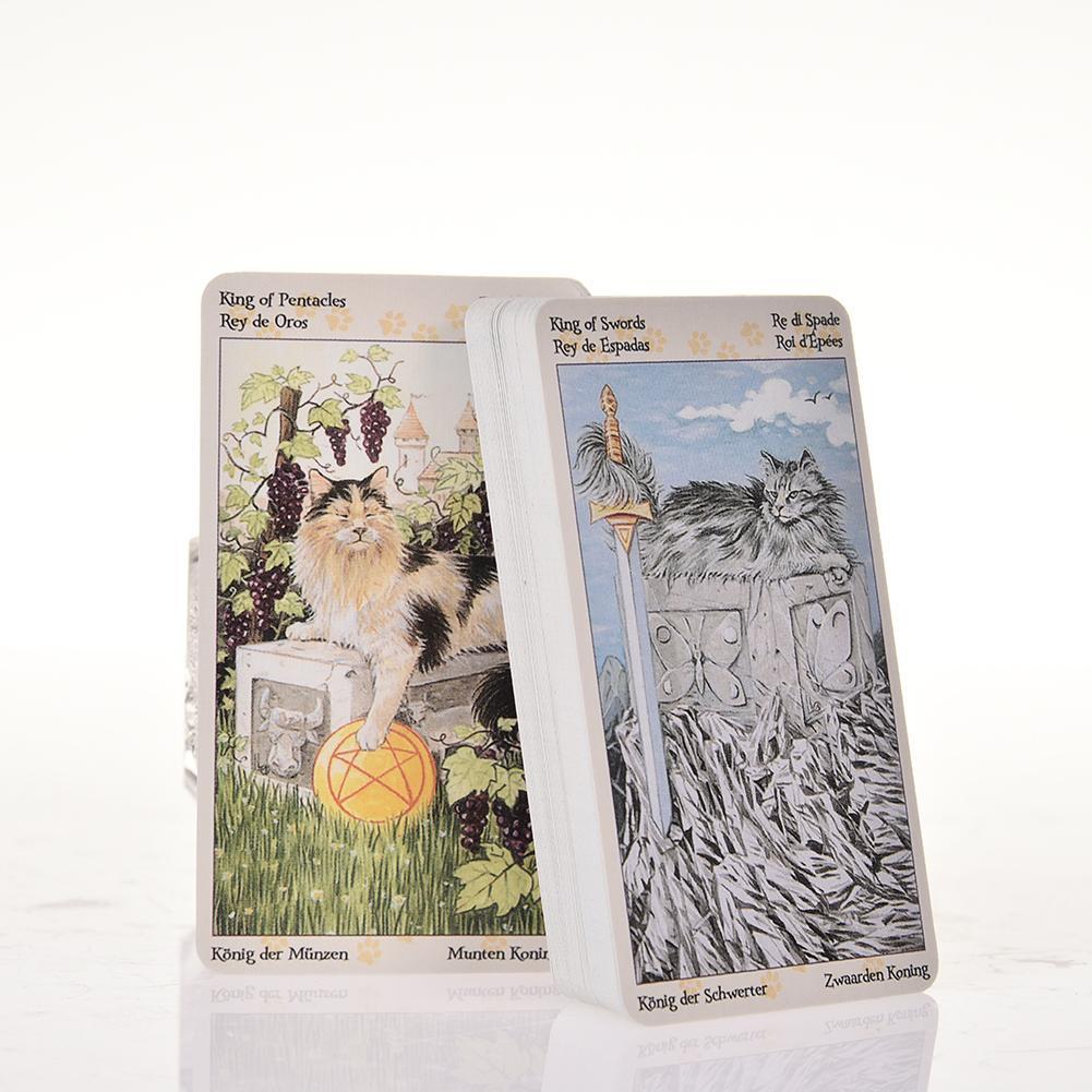 78 stücke Tarot von Pagan Katzen Tarot Volle Englisch Version Brettspiel Karten Familie Versammlung Bord Spiele