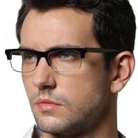 cubojue acetate eyeglasses frames male semi rimless glasses men spectacles for optic fashion eyewear spring hinge clear lens