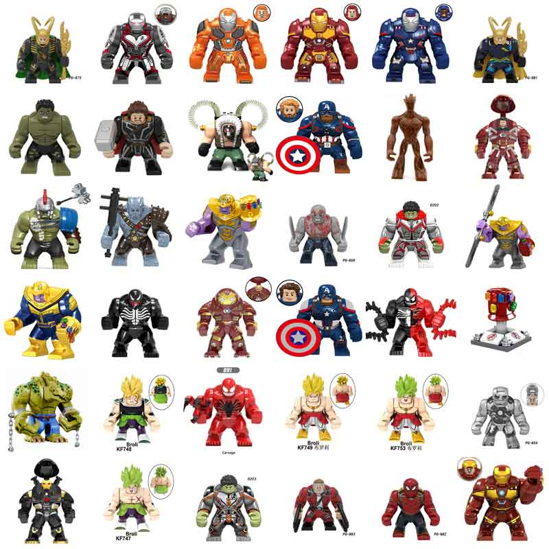 2021 Hot Blocks Mark44 Ironman James Rhodes War Machine Hulkbuster Figure Construction Building Bricks Toys For Children