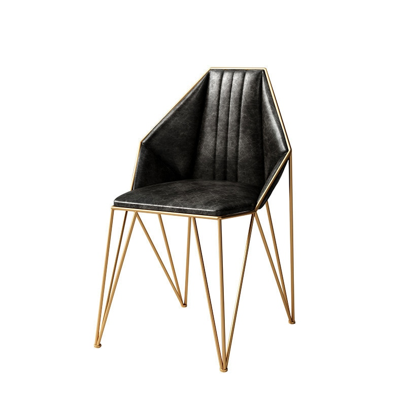 Silla de Espalda Roja negra dorada nórdica moderna minimalista home ins net Silla de comedor Silla de escritorio