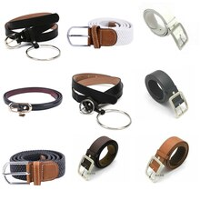 Fashion Classic Round Buckle Ladies Wide Belt Women's Female Casual Leather Belts For Jeans