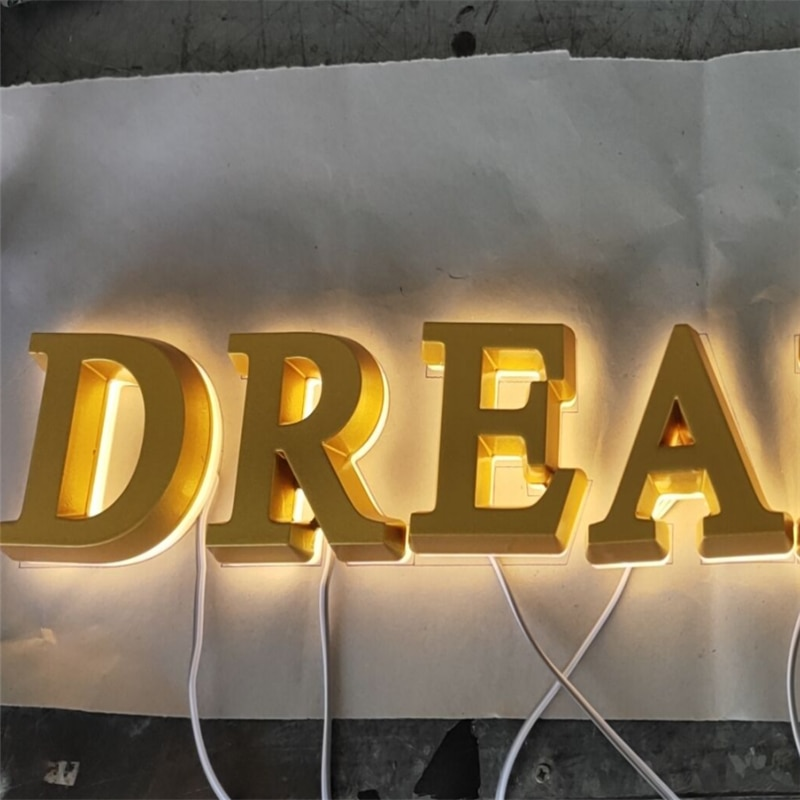 Factory Outlet 3D  acrylic illuminated indoor advertising signs, double sided lighted acrylic logo