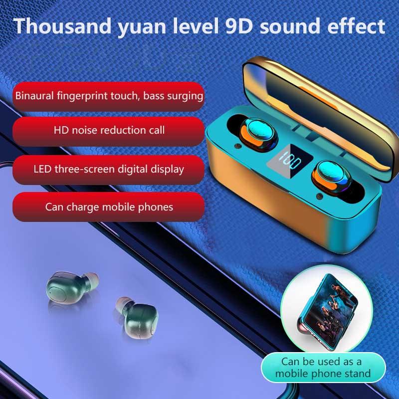Cierto TWS inalámbricos Bluetooth 5,0 Auriculares auriculares inalámbricos Mini auriculares auricular inalámbrico impermeable de cancelación de ruido auriculares