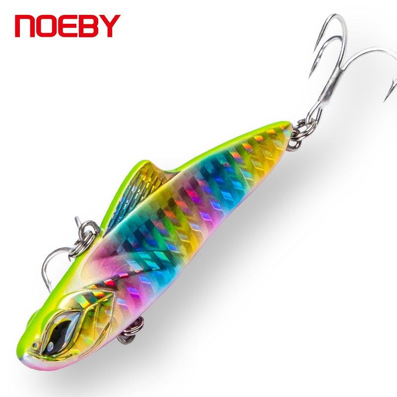 Señuelos de Pesca vibratorios NOEBY, señuelos duros de 70mm/20g para Lucio de trucha, cebo VIB para pesca con anzuelos triples