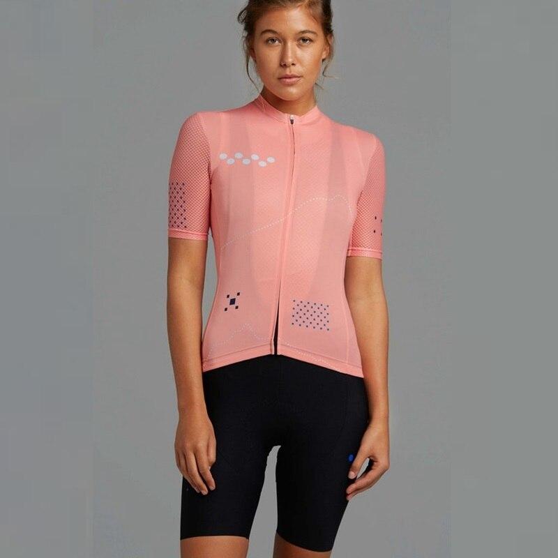 Équipe Pedla Core cyclisme maillot femmes 2020 vtt cyclisme vêtements respirant Jacquard maille manches courtes ropa ciclismo
