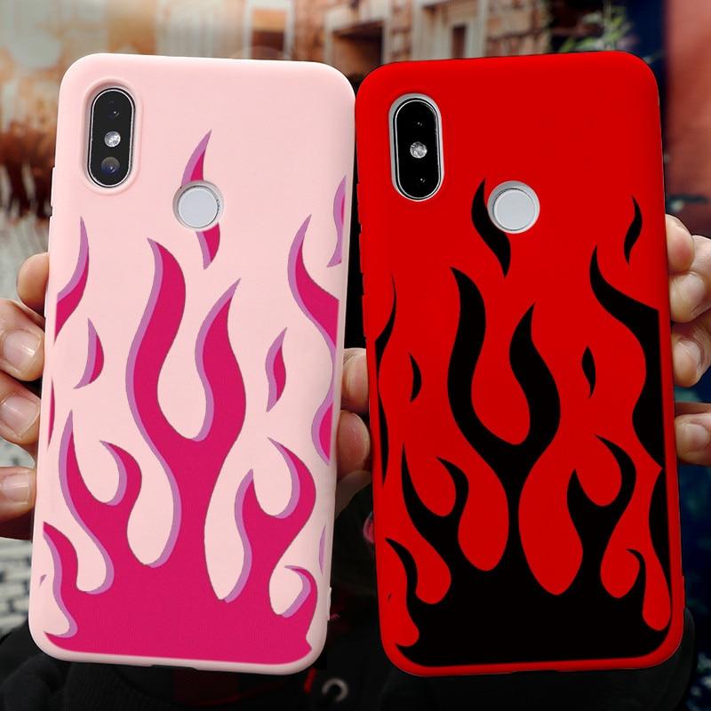 Colorful Flame Case For Xiaomi Redmi Note 9 8 Pro 9S 8T 5 6 7 7A 8A Mi A3 A1 A2 8 9 Lite SE Poco F2 9T Pro 10 CC9 CC9e TPU Cover