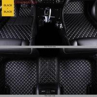 custom car floor mat for toyota land cruiser prado 120 prado 150 2006 2008 year 7seats car accessories leather carpet floor mats