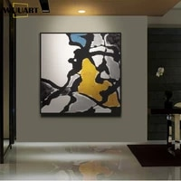 abstract canvas painting home decorative handmade oil painting wall art black and white painting deco living room home no framed