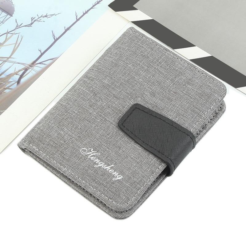 New Fashion Men's Wallet With Coin Bag Multi-Card Design canvas Zipper Money bag Short Small Purses