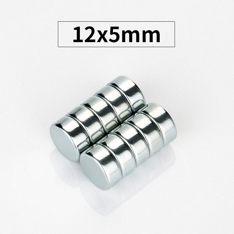 RKZCT 50 unids/set 12*5mm imanes de tierras raras permanentes magnéticos cilíndricos planos de gran alcance DIY moda para arte imán de nevera
