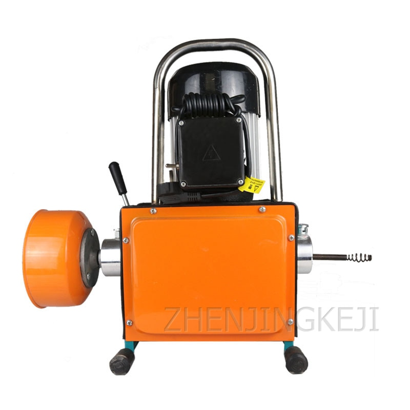 800W Pipeline Dredge Machine Super Waterproof Electric Professional High Power Sewer Tool Toilet Floor Drain Cleaning Artifact