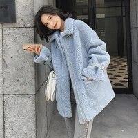 real sheep shearling fur coat 2020 autumn winter jacket women 100 wool coats and jackets women outwear abrigo mujer my