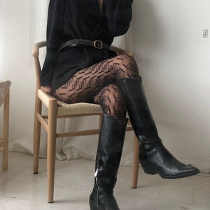 European and American fashion hot style nightclub style letter bottoming socks hollow net stockings leggings stockings women
