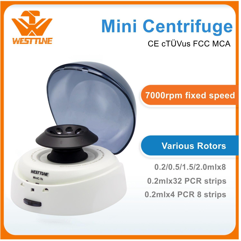 MiniC-7K Mini Centrifuge 7000rpm Laboratory Electronical Palm Micro Blood PRP PCR Centrifugal Machine 0.2ml-2ml Tube Available