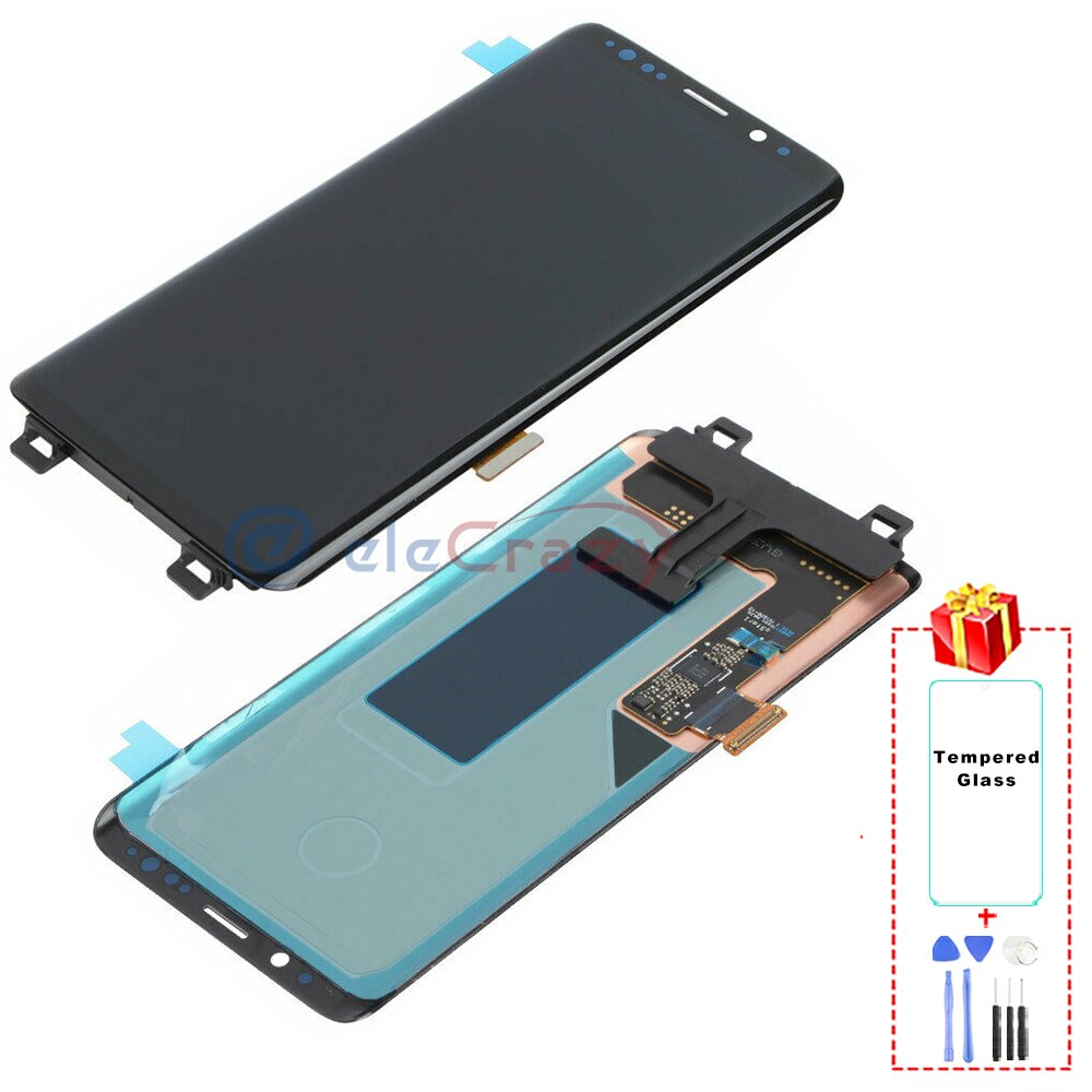 Original AMOLED for Samsung Galaxy S9 G960F LCD Display with Touch Digitizer and Frame Assembly Replacement 100% Tested enlarge