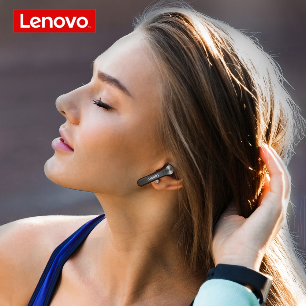 Lenovo QT81 TWS Bluetooth Earphone BT5.0 Low Latency Gaming Wireless Headphone Bass Stereo True Bluetooth Wireless Earbuds