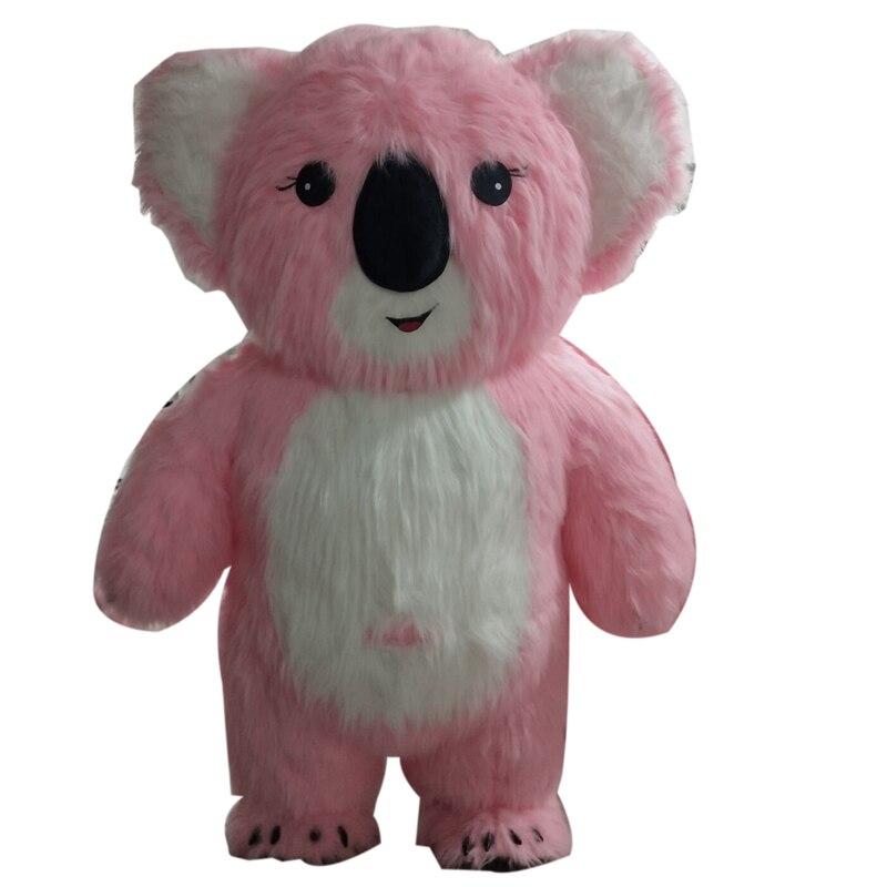 Надувной костюм талисмана коала, 2 м, 2,5 м, 3 м, для взрослых, косплей, вечерние, для игр, платье на Хэллоуин, Рождество, ручная работа, персонаж и...