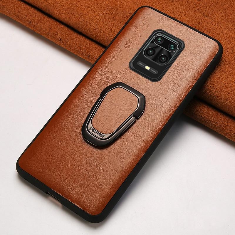 Genuine Oil Wax Leather Phone Case For Xiaomi Redmi Note 9 pro 9s Note 8 pro 8T 7 K30 Bracket Cover For Mi 10 9T pro 9 Lite 8 A3