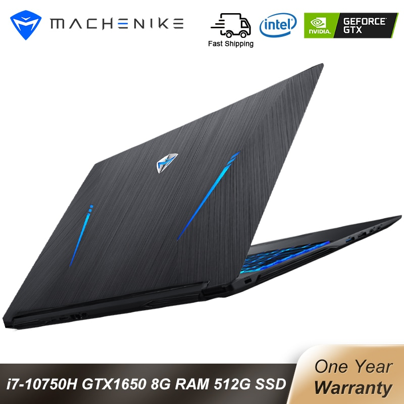 Machenike T90 Gaming laptop Intel Core i7 10750H Laptops GTX1650 4G 8GB RAM 512G SSD 15.6'' 6mm Bord