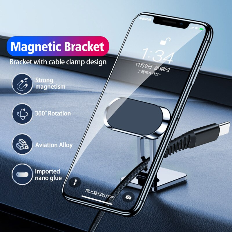 ANMONE Magnetic Car Phone Holder Magnet Holder For Phone In Car Stand Mobile Universal Dashboard Support Mobilephone Voiture
