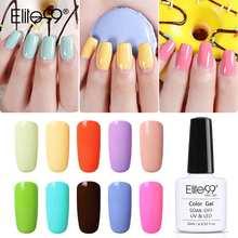 Elite99 10 мл Макарон Цвет s УФ гель лак для ногтей светодиодный маникюр ногтей лак био-Гели Soak Off Карамельный цвет Цвет дизайн ногтей Гель-лак