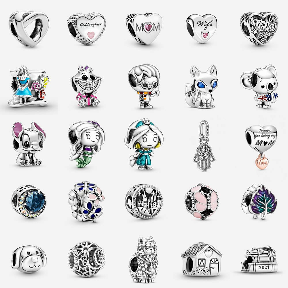 AliExpress - 2021 New Fashion Little Pretty Girl Princess Beads Fit Original Pandora Bracelet Women Girl's  Charm for Jewelry DIY Making Gift