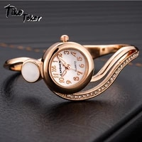 tike toker womens watches 2021 luxury bracelet watch gold silver dial small dial dress quartz wristwatch gift for women reloj