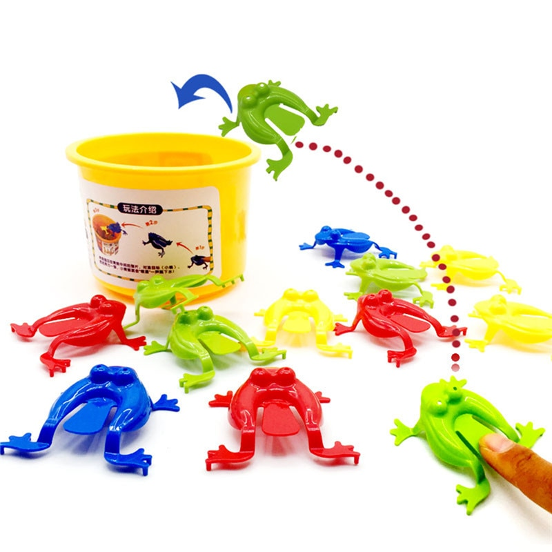 5/10 Pcs Jumping Frog Bounce Fidget Toys For Kids Novelty Assorted  Stress Reliever Toys For Children Birthday Gift Party Favor