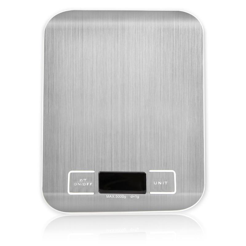 Электронные весы, серебристый цифровой безмен из нержавеющей стали, 5 кг/10 кг/1 г, со светодиодным дисплеем