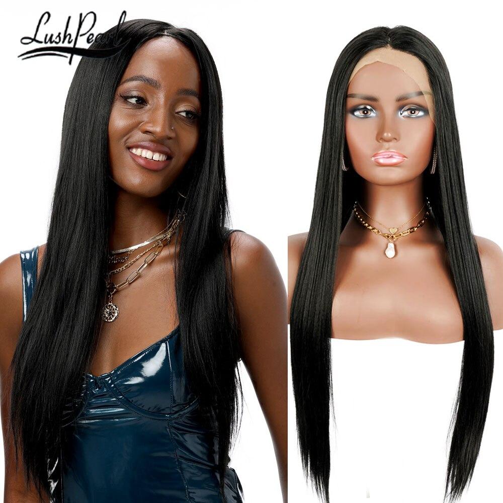 Parrucche lunghe dritte nere parte centrale sintetica 613 parrucche bionde per donna Anime Cosplay capelli naturali festa/parrucche Ombre quotidiane
