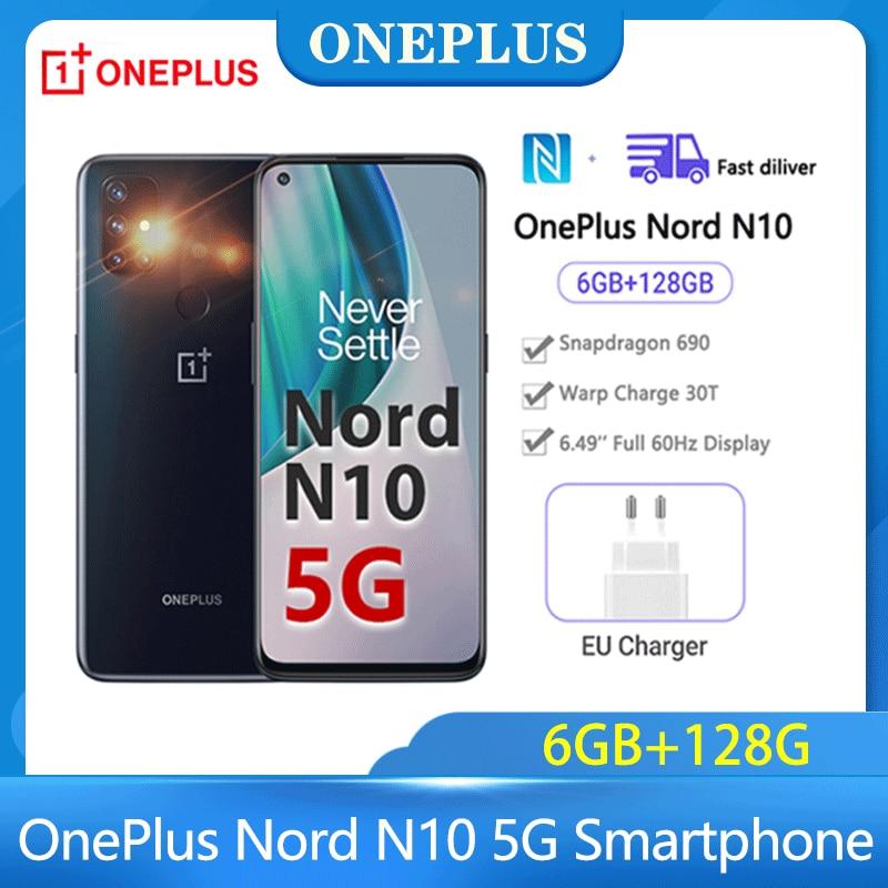 Перейти на Алиэкспресс и купить Чехол из ПВХ для OnePlus Nord N10 5G OnePlus официального магазина Carter's мировая премьера глобальная версия 6 ГБ 128 Snapdragon 690 смартфон 90 Гц Дисплей 64MP