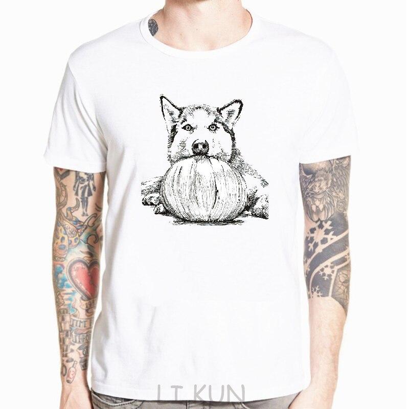 Camiseta con estampado de Husky para hombre, camiseta informal de manga corta,...