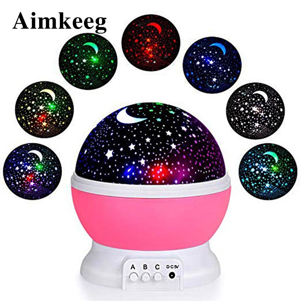 LED night light RGB star projector lamp USB projector moonlight star night light Christmas gift children bedroom decoration lamp