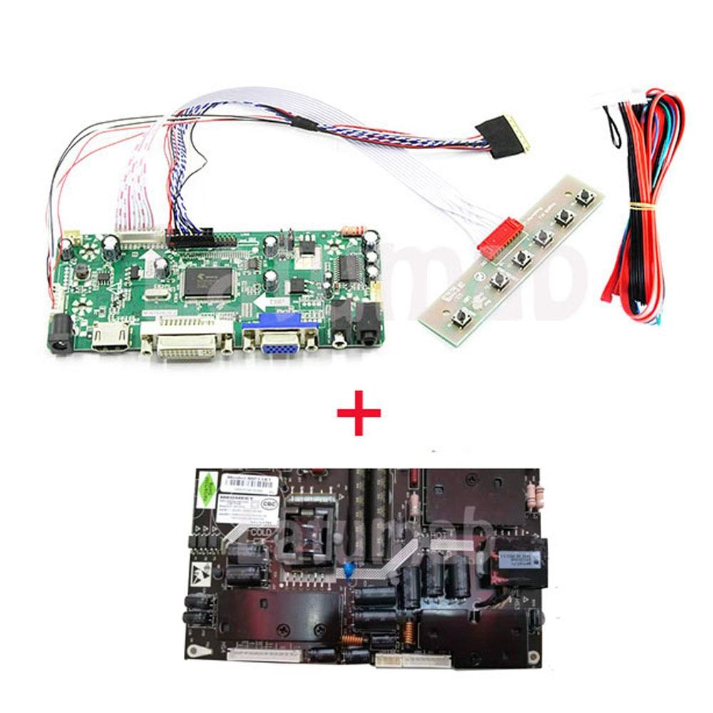 Placa controladora LCD HDMI + DVI + VGA + Kit de adaptador de corriente para LM240WU2-SLB2 1920X1200