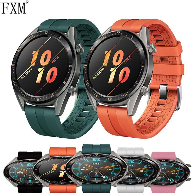 22mm 20mm pulseiras de relógio para huawei relógio gt 2 42mm 46mm cinta samsung galaxy assista 46mm engrenagem s3 fronteira amazfit gts pulseira