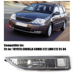 Amortecedor dianteiro direito luzes de nevoeiro 8121112150 para toyota corolla kombi limo e12 01-02 estilo do carro acessórios originais